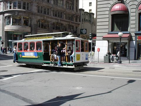 cable car at union square